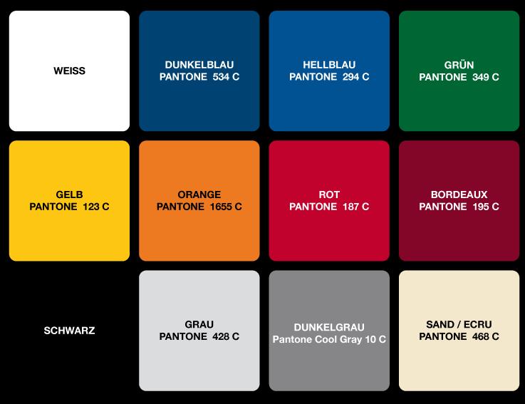 12 Standardfarben MASTERTENT
